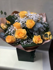 St Helier Florist Hand Ties - Yellow Roses
